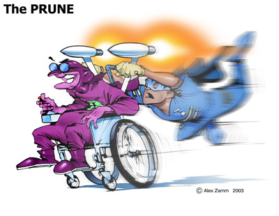 Prune Rocket Wheelchair